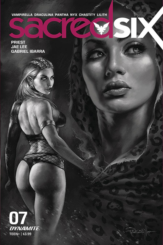 Sacred Six #7 (30 Copy Parrillo B&W Cover)