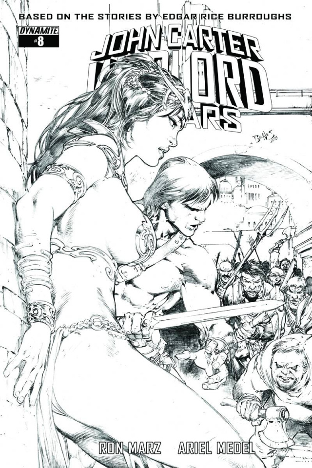 John Carter: Warlord of Mars #8 (20 Copy Benes B&W Cover)