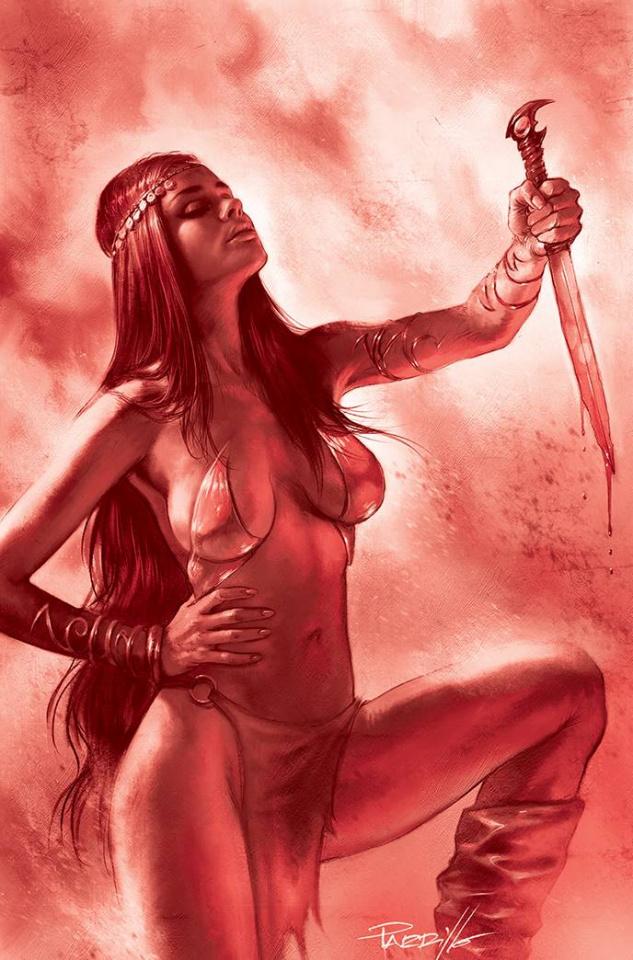 Dejah Thoris #12 (21 Copy Parrillo Tint Virgin Red Cover)