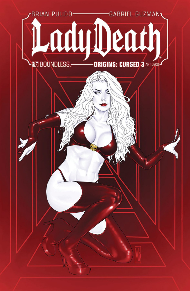 Lady Death Origins: Cursed #3 (Art Deco Cover)