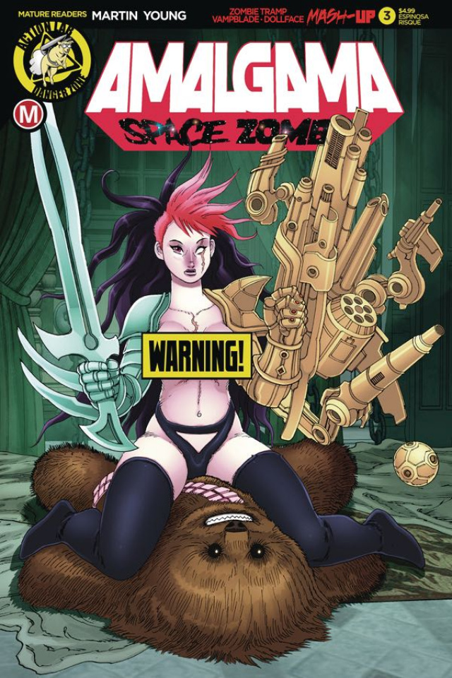 Amalgama: Space Zombie #3 (Espinosa Risque Cover)