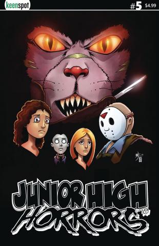 Junior High Horrors #5 (Scream Spoof Cover)