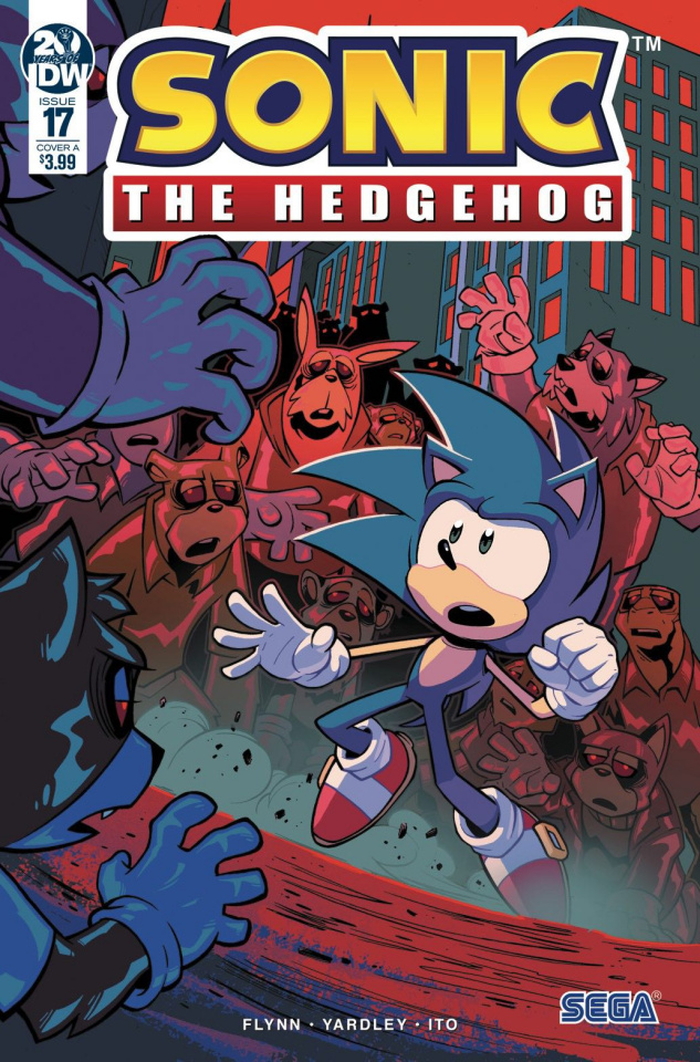 Sonic the Hedgehog #17 (Lawrence Cover)