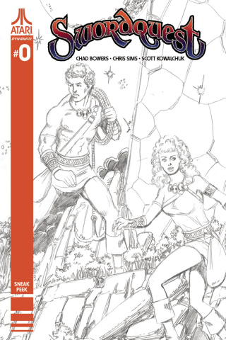 Swordquest #0 (100 Copy Perez Artist Sneak Peek Cover)