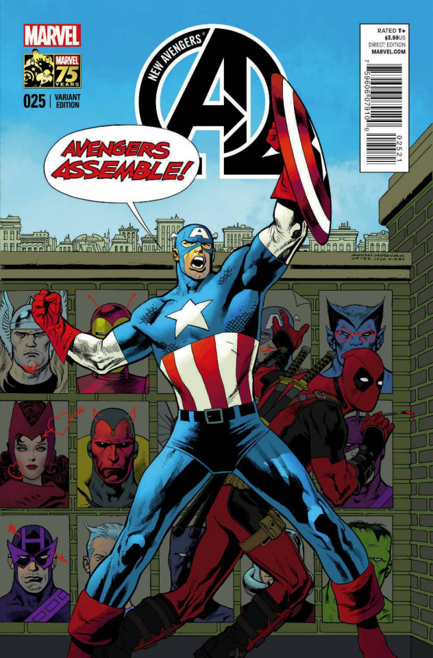 New Avengers #25 (Deadpool Cover)