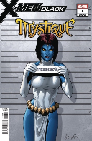 X-Men: Black - Mystique #1 (Larroca Mugshot Cover)