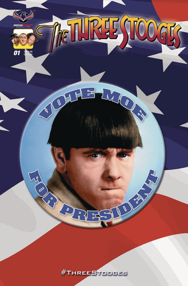 The Three Stooges: Red, White & Stooge #1 (Moe Cover)