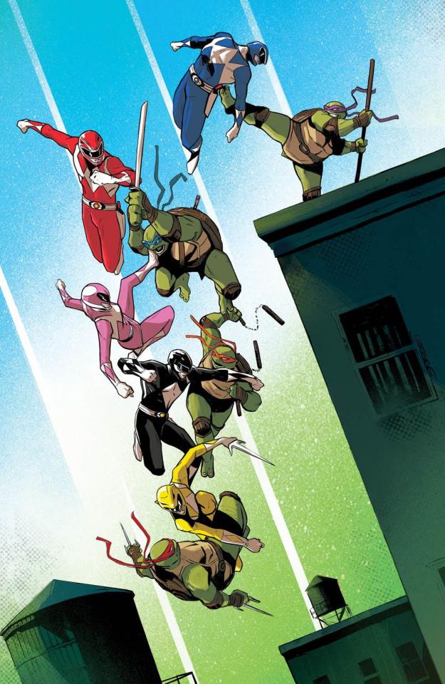 Power Rangers / Teenage Mutant Ninja Turtles #3 (Garbet Cover)