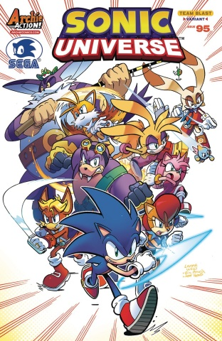 Sonic Universe #95 (Lamar Wells Cover)