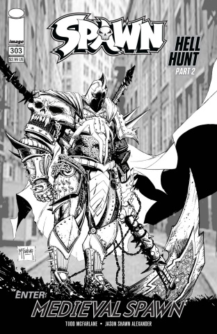 Spawn #303 (B&W McFarlane Cover)