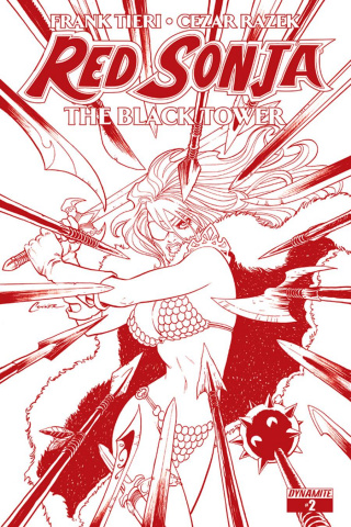 Red Sonja: The Black Tower #2 (Rare Conner Blood Red Cover)