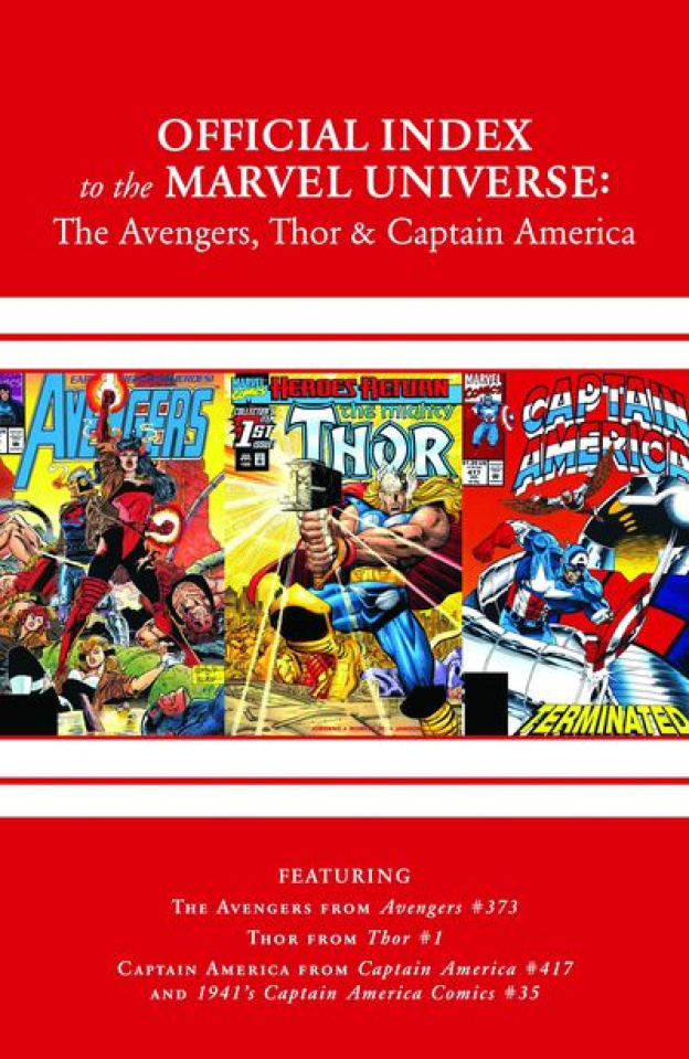 The Official Index to the Marvel Universe #11: Avengers, Thor and
