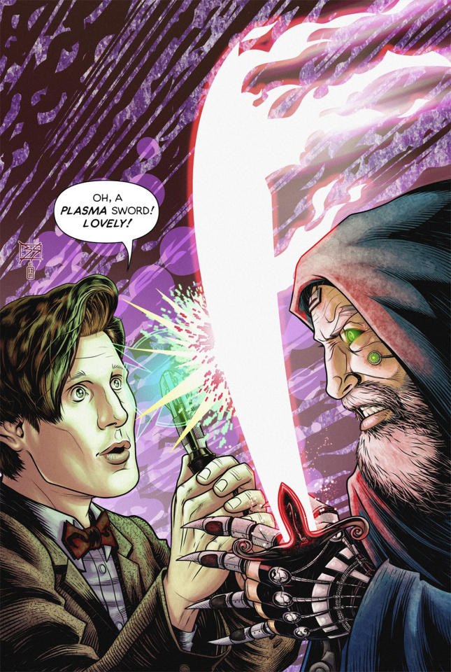 Doctor Who: New Adventures with the Eleventh Doctor, Year Three #9 (Shedd Cover)