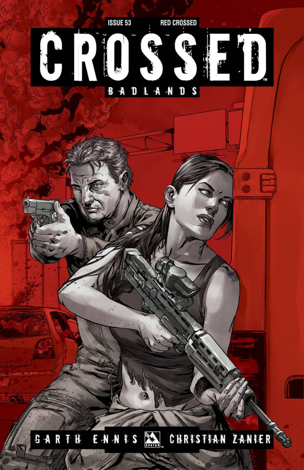 Crossed: Badlands #53 (Red Crossed Cover)