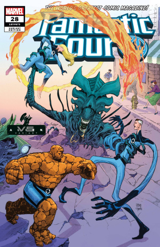 Fantastic Four #28 (Cassara Marvel vs. Alien Cover)