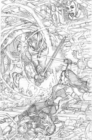 Sirens #5 (25 Copy Pencils Right Cover)