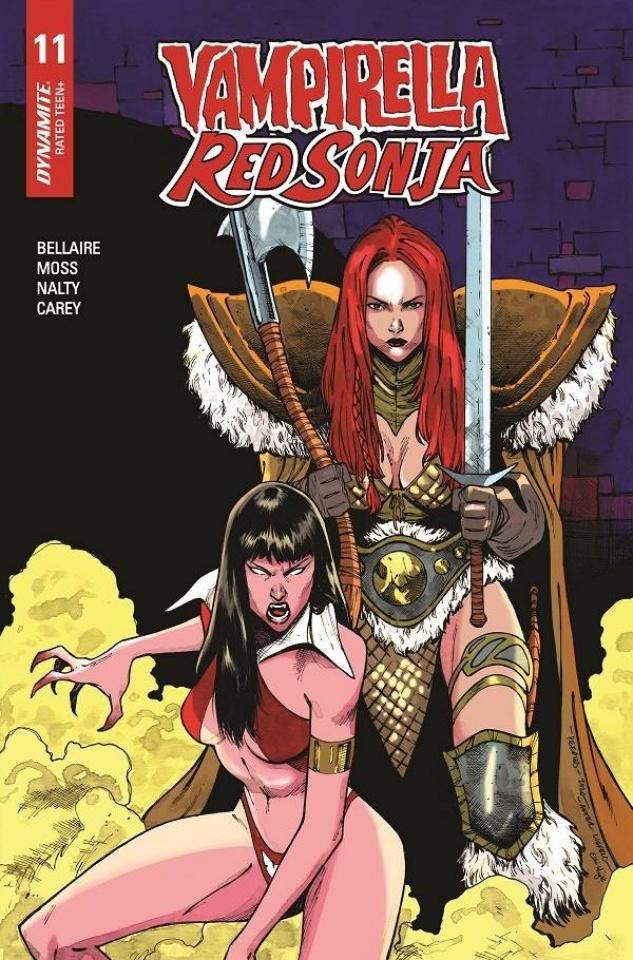Vampirella / Red Sonja #11 (7 Copy Peeples Homage Cover)