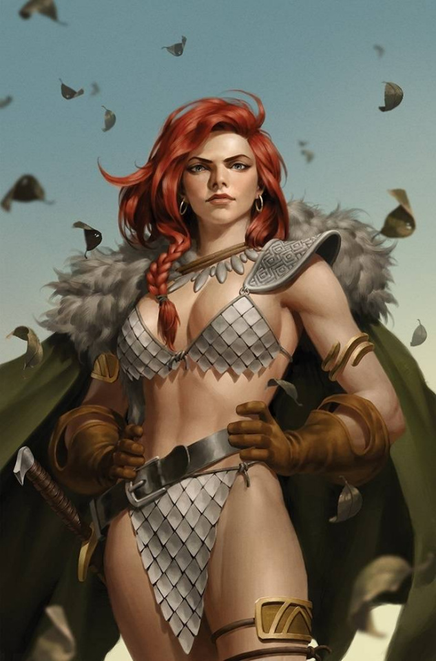 Red Sonja: The Superpowers #4 (Premium Yoon Virgin Cover)