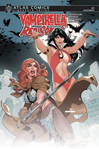 Vampirella / Red Sonja #1 (Atlas Edition Dodson Signed)