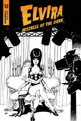 Elvira: Mistress of the Dark #12 (11 Copy Castro B&W Cover)