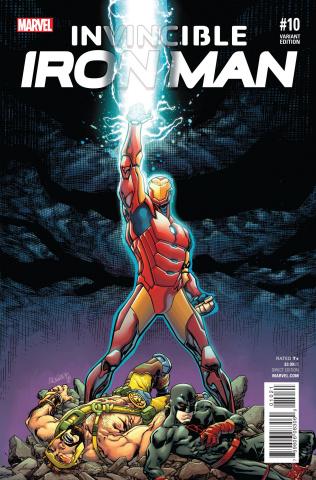 Invincible Iron Man #10 (Reenactment Cover)