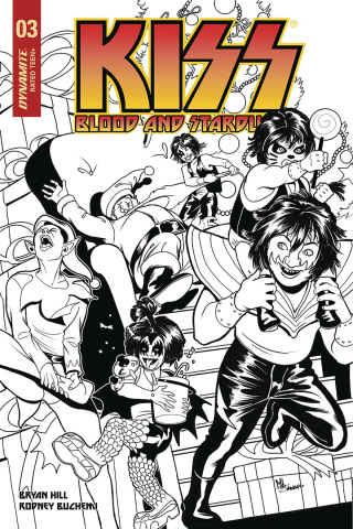 KISS: Blood and Stardust #3 (30 Copy Sanapo B&W Cover)