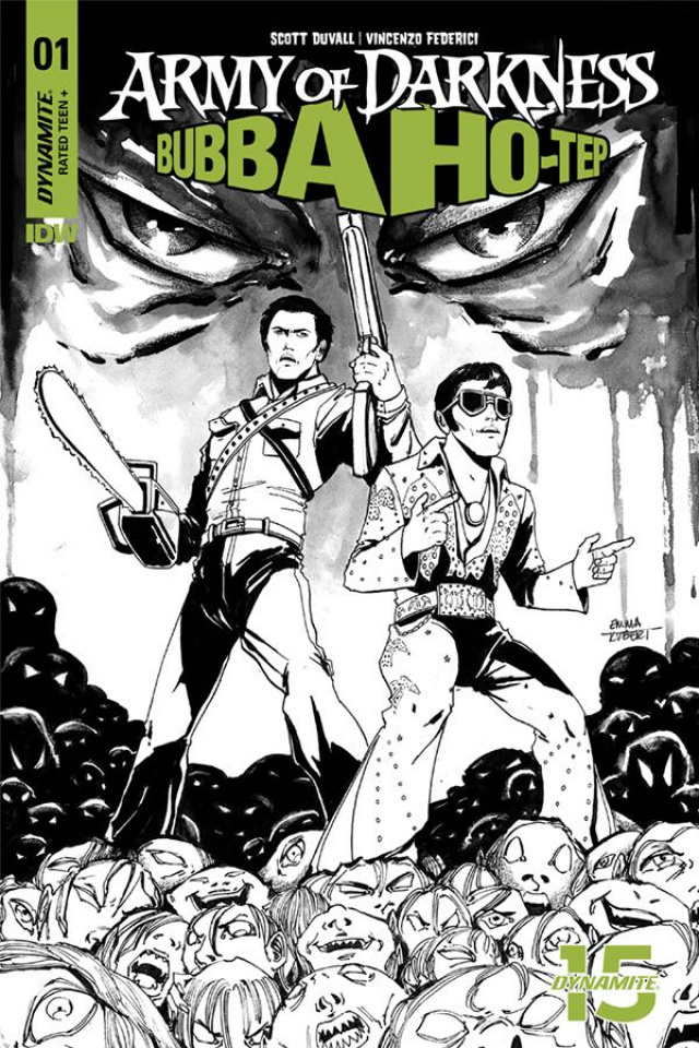 Army of Darkness / Bubba Ho-Tep #1 (20 Copy Kubert B&W Cover)