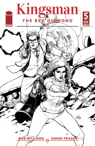 Kingsman: The Red Diamond #5 (B&W Yu Cover)