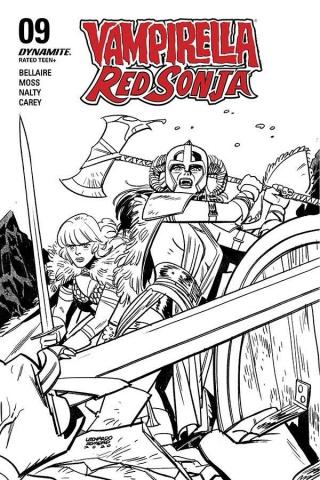 Vampirella / Red Sonja #10 (40 Copy Romero B&W Cover)