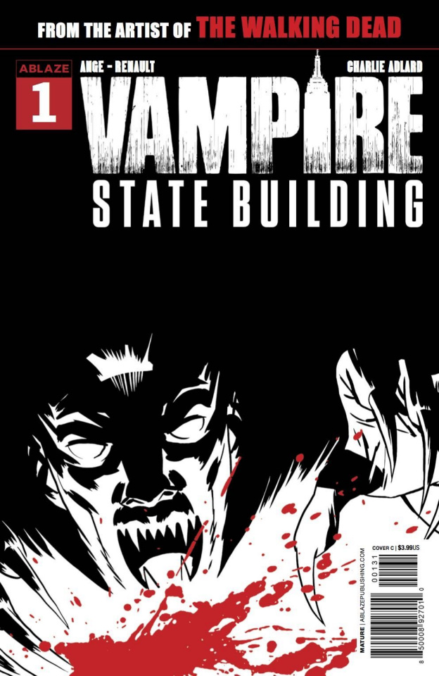 Vampire State Building #1 (Adlard B&W&Red Cover)