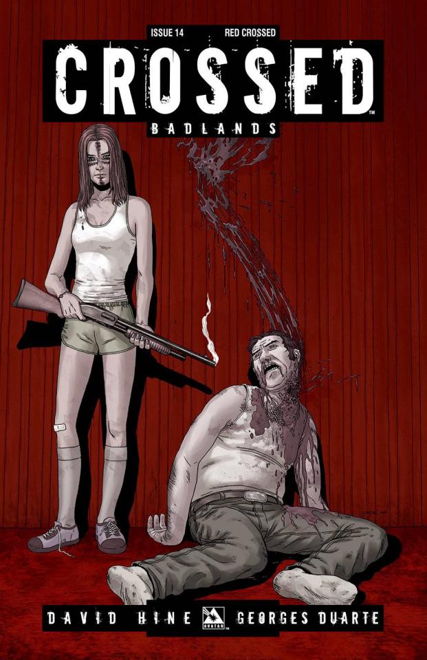 Crossed: Badlands #14 (Red Crossed Cover)