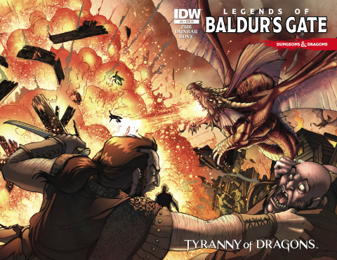 Dungeons & Dragons: Legends of Baldur's Gate #4 (10 Copy Cover)
