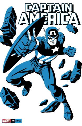 Captain America #28 (Michael Cho Captain America Two-Tone Cover)