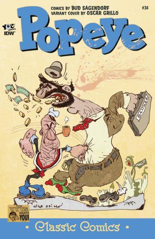 Popeye Classics #34 (10 Copy Cover)