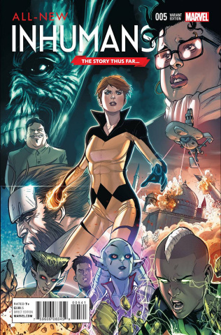 All-New Inhumans #5 (Caselli Story Thus Far Cover)
