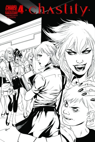Chastity #4 (10 Copy Lupacchino B&W Cover)