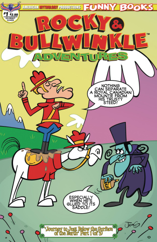 Rocky & Bullwinkle Adventures #1 (Dudley Do Right Cover)