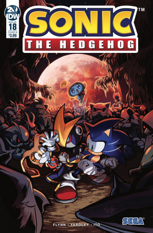 Sonic the Hedgehog #18 (Skelly Cover)