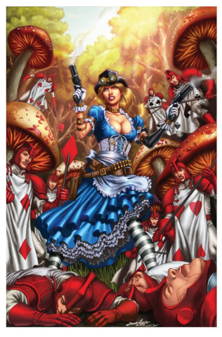 Grimm Fairy Tales: Steampunk Alice in Wonderland (Luis Cover)