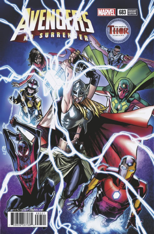 Avengers #683 (Ramos Mighty Thor Cover)