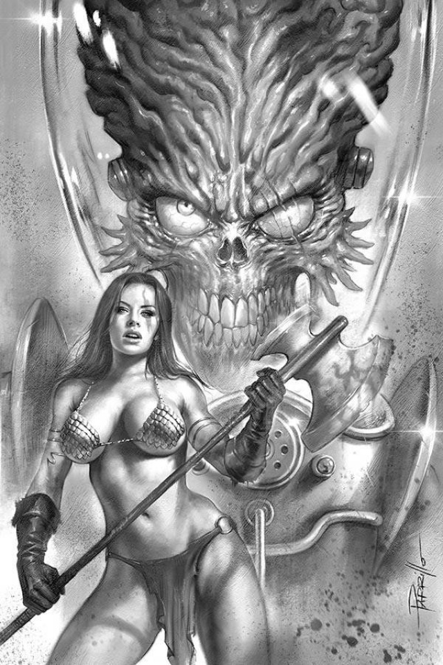 Mars Attacks / Red Sonja #1 (30 Copy Parrillo B&W Virgin Cover)