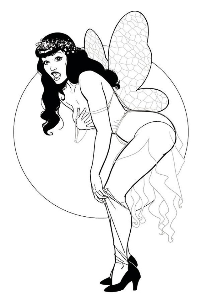 Bettie Page #2 (25 Copy Kano B&W Virgin Cover)