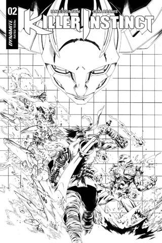 Killer Instinct #2 (10 Copy Lau B&W Cover)