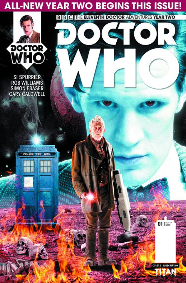 Doctor Who: New Adventures with the Eleventh Doctor, Year Two #1 (Subscription Cover)