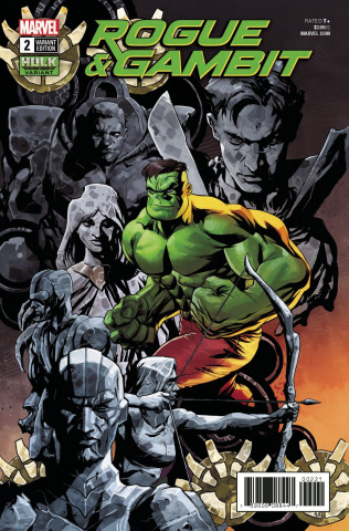 Rogue & Gambit #2 (Hulk Cover)