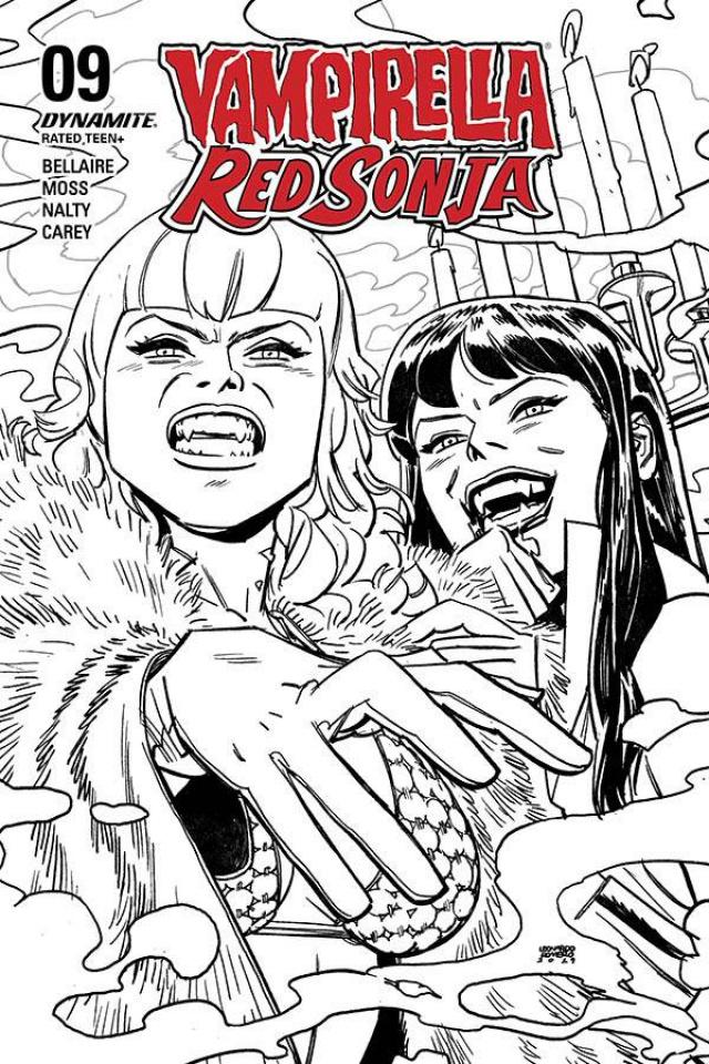 Vampirella / Red Sonja #9 (40 Copy Romero B&W Cover)