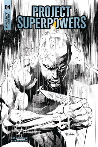 Project Superpowers #4 (20 Copy Segovia B&W Cover)