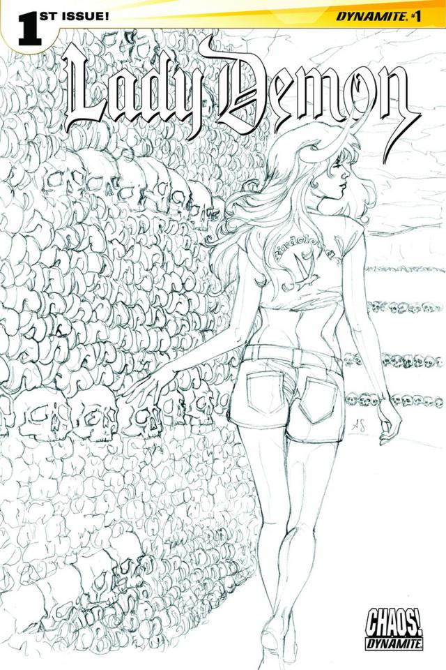 Lady Demon #1 (30 Copy Sohn B&W Cover)