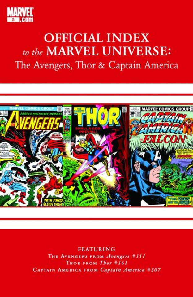 The Official Index to the Marvel Universe #12: The Avengers, Thor & Captain America