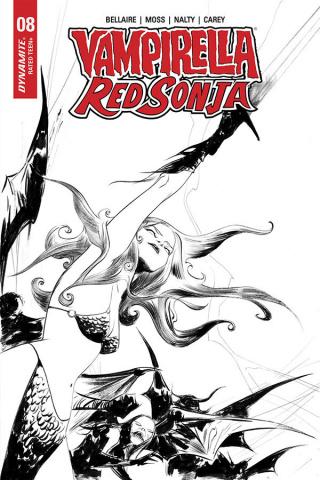 Vampirella / Red Sonja #8 (21 Copy Lee B&W Cover)